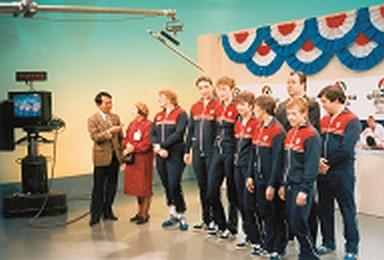 Первая сборная СССР на японском телевидении 1985 год